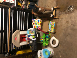 All toys, baby and toddlers items must go! Located in Lake Echo