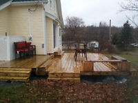 WE SPECIALIZE IN: DECKS! SIDING! FENCING! and More!