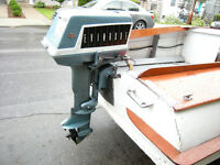 Plywood boat, motor and trailer