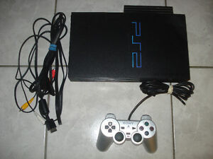 PS2 Fat with 1 Controller,Network Adapter and Game!