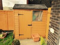 6x4 shed, 1 year old, excellent condition