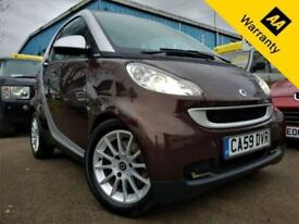 2009 SMART FORTWO 1.0 PASSION MHD71 BHP+P/X WELCOME+AUTO+PANROOF+SAT-NAV+LEATHER