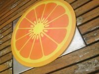 Vintage 1960s glass chopping board