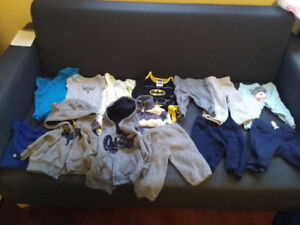 3 months boy clothing lot (both pics for $12)