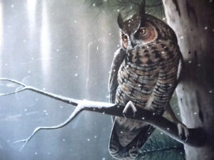 """Hand Signed Wildlife Lithograph by L. E. Robinson """"The Watcher"""" Stratford Kitchener Area image 3"""