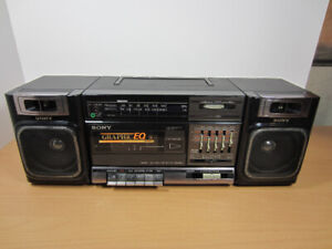 Sony CFS-1000 Stereo AM/FM Radio Tape 5 Band Equalizer Boombox