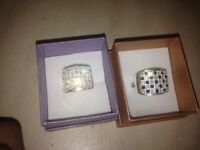 Mens silver diamond rings