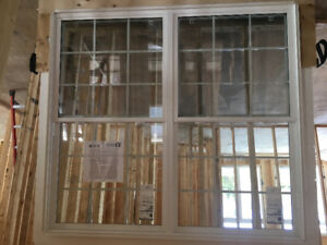 New Single  Hung Window with grills 72  x 66 - for sale