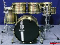 ONE OF A KIND WORLDMAX VINTAGE CLASSIC BRASS SHELL DRUM KIT