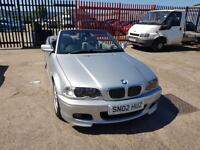 BMW 330 3.0 auto 2002 Ci Sport Convertible m tech e46