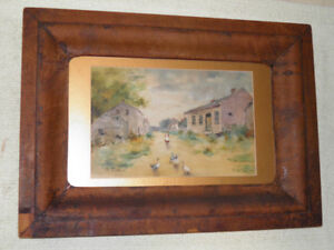 1897 Framed Water Color Painting of Old Smithville