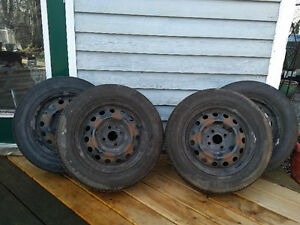 Set of 4 185/65R14 All Season Tires on Steel Rims - Great Deal!