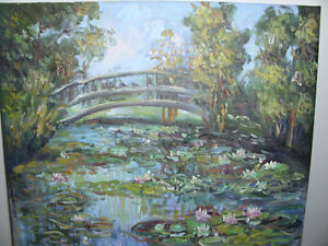 Waterlilies - Oil on Canvas