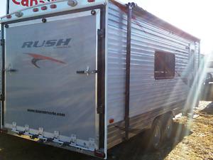 New 21' RUSH Toy Hauler!  Mini Van towable only 3120 Lbs.
