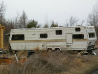 35' trailer great for hunt camp or convert to flat bed