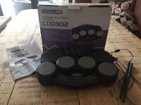 Acoustic solutions CDD302 Four pad electronic drum kit