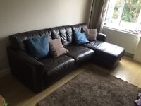 Large Dfs corner sofa and sofa bed just over a year old.
