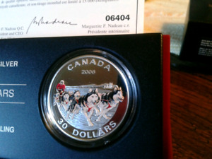 2006 $30 1 oz The Dog Sled Team Coin for sale