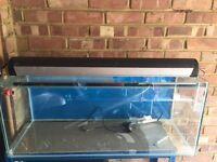 150L Aquarium Fish Tank with Overhead light