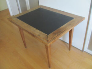 Wood Table with Stone (desk or dining table)