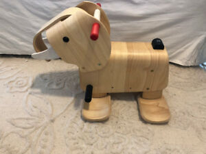 Wooden Elephant from Plan toys / rubber wood Ride on Toy