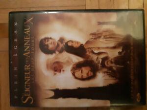 DVD trilogie Seigneur des anneaux