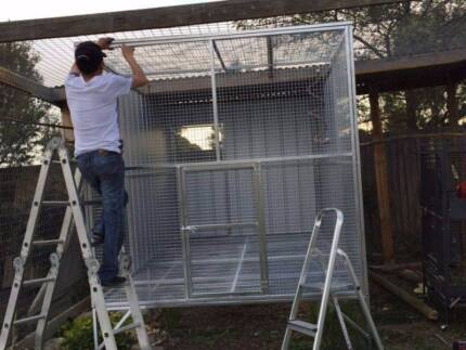Aviary for Macaws from Pet Kingdom Enclosures. Call now to order