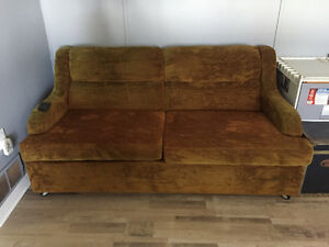 Pull out couch with mattress