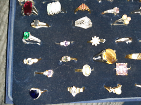 Various dress rings more pics to follow sizes from p - w