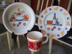 Authentic Tiffany Toys by Tiffany & Co. Bowl Plate & Cup Set