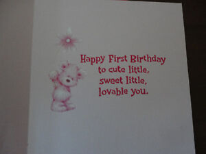Brand new First 1st Birthday greeting card baby girl London Ontario image 3