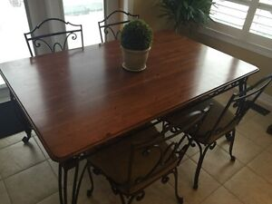 Large Bombay Company Kitchen Or Dining room table and chairs