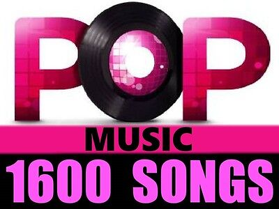 Greatest Hits of POP MUSIC Collection 1600 + MP3 Songs lot 120 Artists OLD & NEW