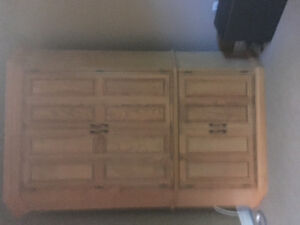 Custom made solid oak Unit