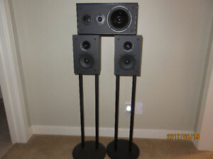 Nuance bookshelf speakers with center
