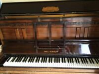 Upright Piano & Stool, Fair Condition, *Buyer Collects*
