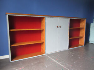 7-Foot Wide Bookcase & Cabinet