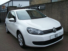 11 61 REG VOLKSWAGEN GOLF MATCH TDi 1.6 5DR WHITE BLUETOOTH £30 TAX ALLOYS MEDIA