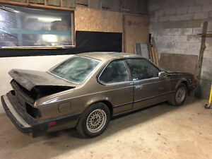 1983 BMW 633csi 5spd project manual coupe bahamabeige