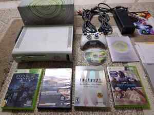 Xbox 360 bundle with controler and games with all cables