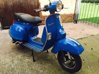 2011 61 reg vespa px125 px full mot, low miles scooter