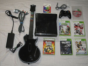 XBOX 360 Console, Wireless Controller and 6 Games