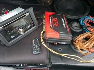 Complete sound system with all wiring