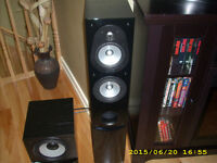 YAMAHA AMP AND ENERGY SPEAKERS