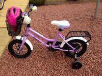 """Girls 12"""" Bike & Helmet"""
