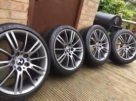 """Genuine BMW 3 Series 18"""" MV3 M Sport Alloy Wheels & Tyres E90 E91 E92 E93 Ferric Grey"""