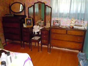Antique bed and dressers