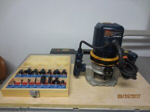 Plunge Router and router bit set