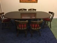 Lovely Extending Meredrew Dining Table And 6 Chairs For Sale