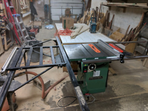2hp General cabinet saw w Excalibur sliding table